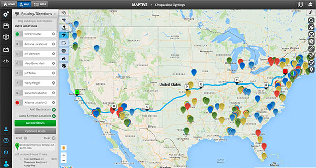 Route Optimization / Directions - Maptive on