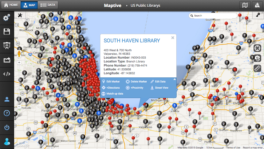 Mapping Multiple Locations Map Multiple Locations   Maptive