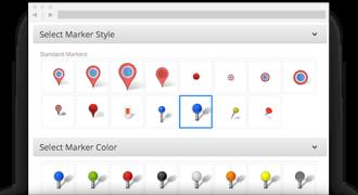 custom map pins