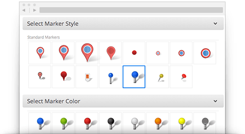 Custom map creator map maker maptive choose from a wide variety of map styles reheart Images