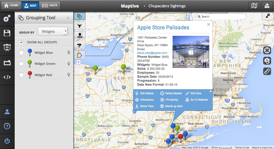 Plot Multiple Locations on a Map - Maptive on