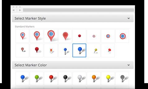 Custom Map Markers - Maptive on