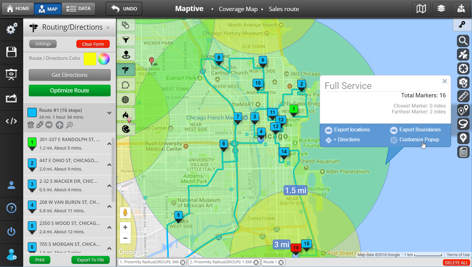 10 Mile Radius Map Radius Map and Proximity Tool   Maptive