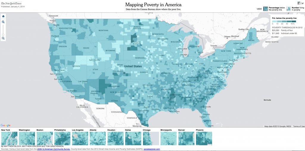Compelling Visualizations That Show The Power And Value Of Maps - Us poverty map census bureau