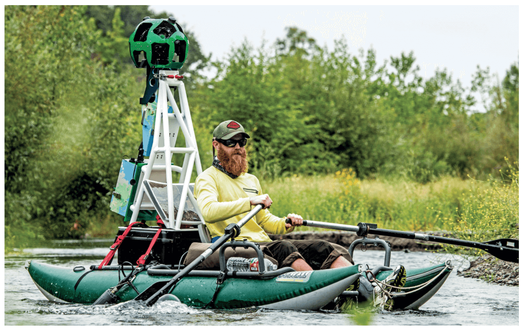 Mapping on a kayak