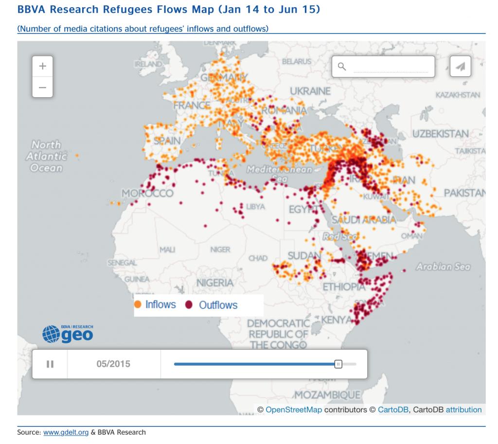 Refugee Flow Map