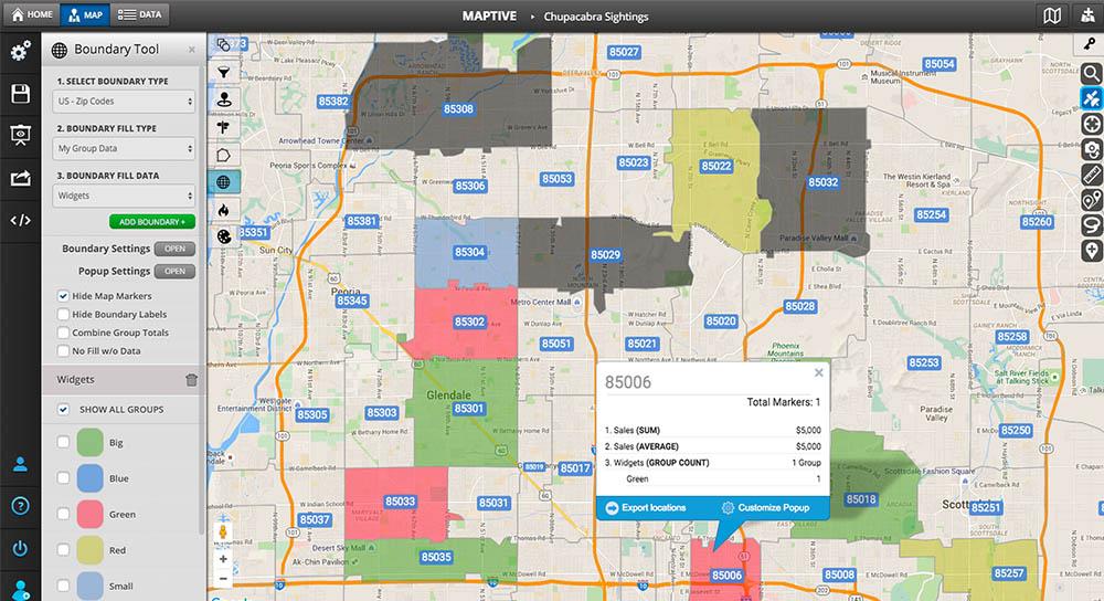 boundary tool maptive