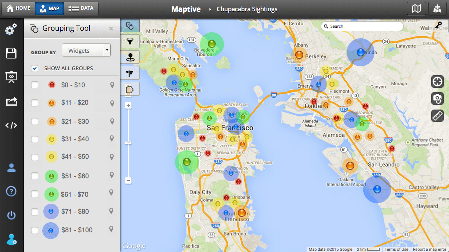Custom Map Creator Maker Maptive: How Can I Plot Multiple Locations On A Map At Slyspyder.com