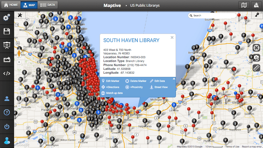 Custom Map Creator  Map Maker Maptive - Us map making software