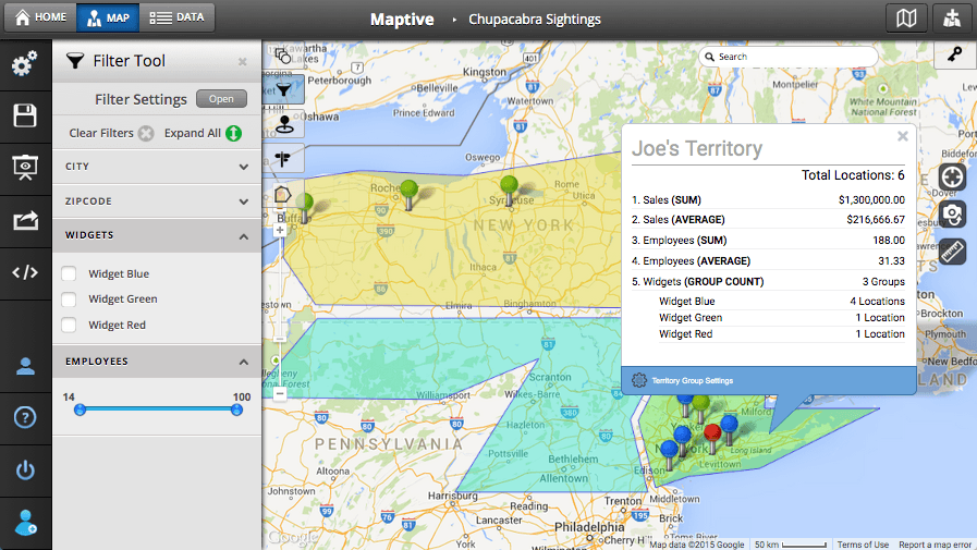 Custom Map Creator  Map Maker  Maptive
