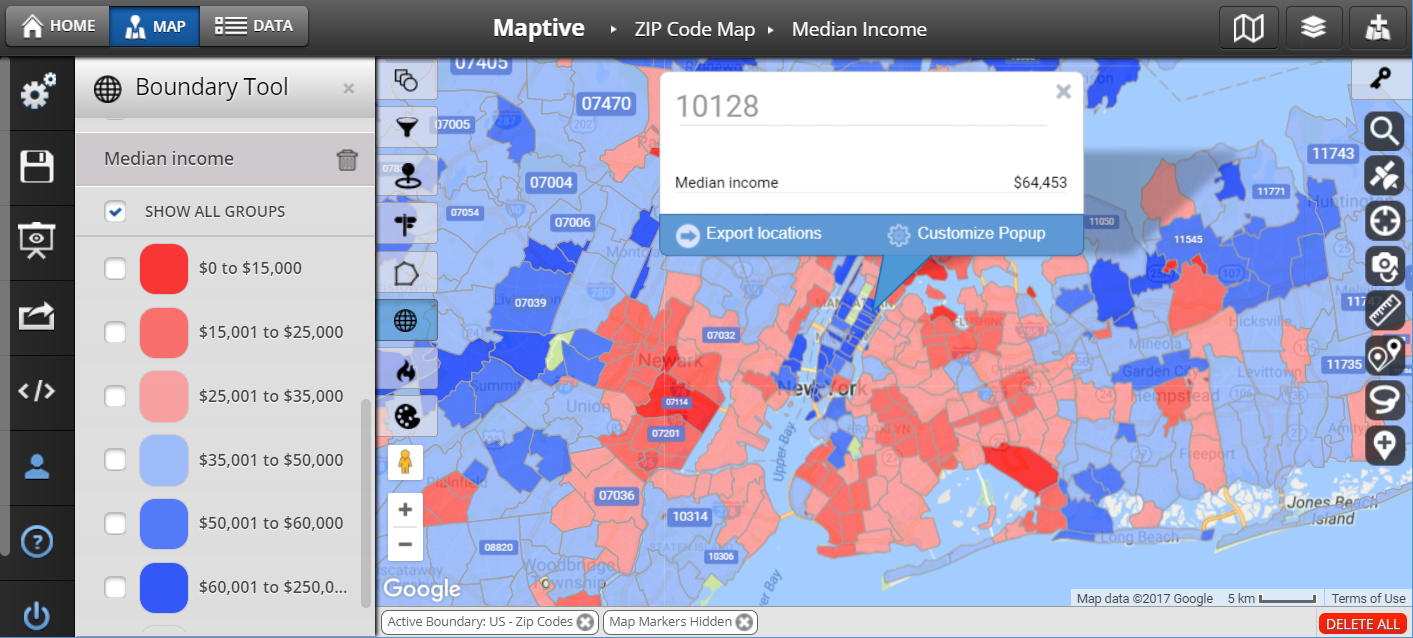 ZIP Code Map (United States) - Maptive Zip Code Mapping on osha pipe color codes, state codes, date codes, cheat codes, javascript codes, ar codes, weather color codes, war codes, school district codes, audio codes,
