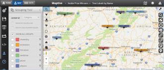 custom text on maps