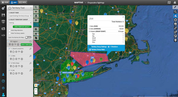 Territory Tool - Sales Territory Mapping