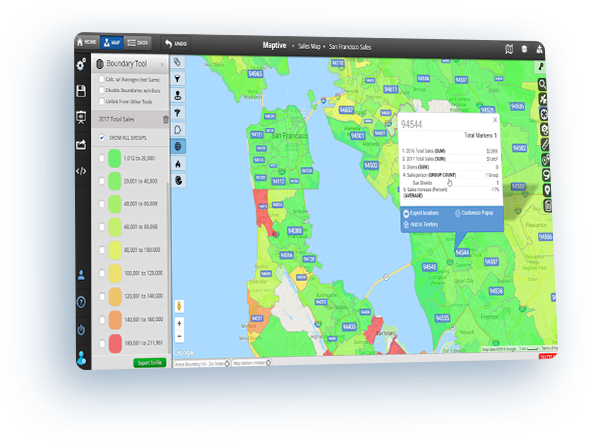 Map Excel Data Plot Addresses From Excel On A Google Map Maptive