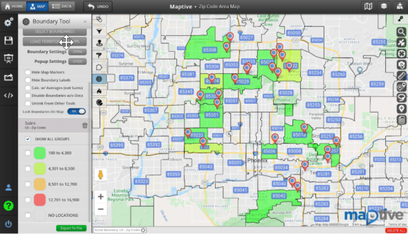 Zip Code Map - Geocoding Software