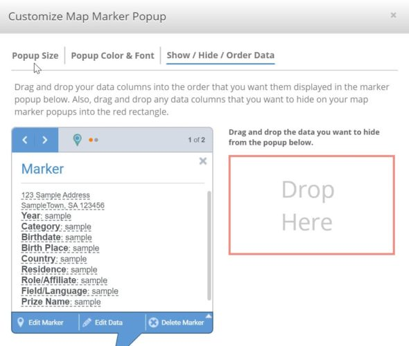 Customize Map Marker Pop-Up