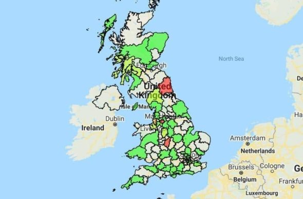 UK Boundary Map - Sales Mapping Software