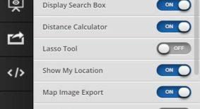 Shared Map Display Settings