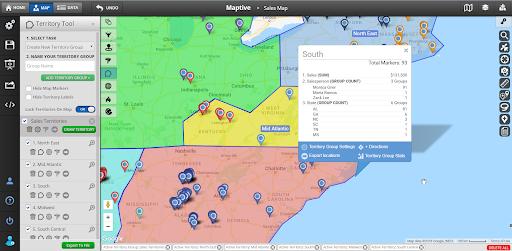 Presentation Map Tools - Territories