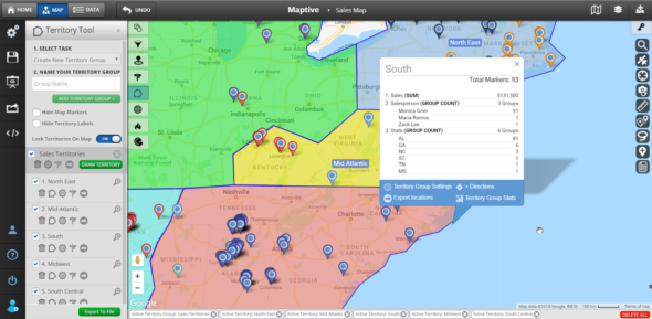 Sales Territory Mapping - Geo Maps