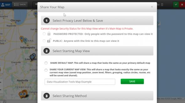 Share Map Data Visualization