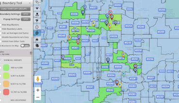 Zip Code Boundary Pin Map