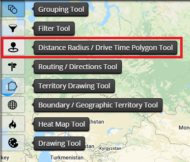 Distance Radius Map Tool