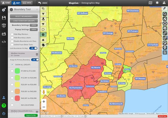 County Mapping Software