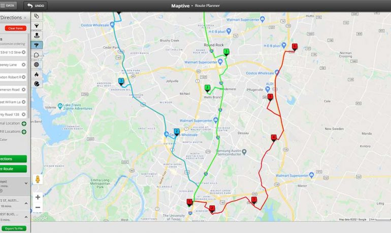 unlimited stop route planner