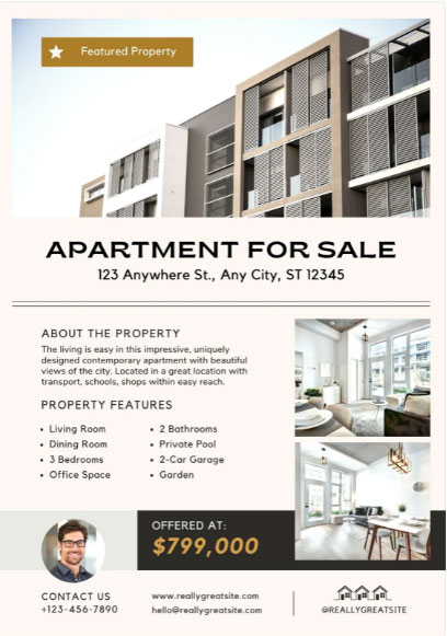 Canva Real Estate Flyer Template