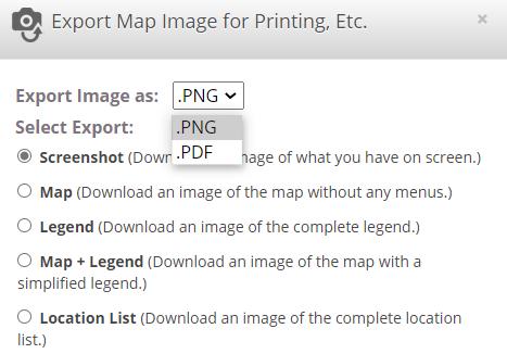 Easy Map Export